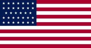 US flag 34 stars